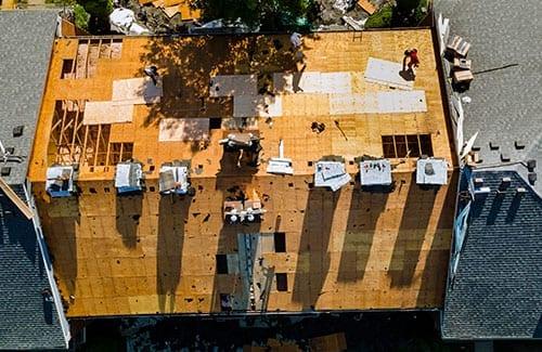 Roofing damage - continuum restoration